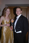 Mr. and Mrs. Alexander Talbot-Rice. Connaught Square Squirrel Hunt Inaugural Hunt Ball. Banqueting House, Whitehall. 8 September 2005. ONE TIME USE ONLY - DO NOT ARCHIVE  © Copyright Photograph by Dafydd Jones 66 Stockwell Park Rd. London SW9 0DA Tel 020 7733 0108 www.dafjones.com