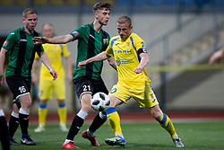 Zeni Husmani of NK Domzale during football match between NK Domzale and NK Rudar in Round #28 of Prva liga Telekom Slovenije 2017/18, on April 22, 2018 in Sports Park Domzale, Domzale, Slovenia. Photo by Urban Urbanc / Sportida