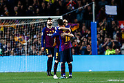 08 Andres Iniesta from Spain of FC Barcelona leaving the field with 10 Leo Messi from Argentina of FC Barcelona during the Spanish championship La Liga football match between FC Barcelona and Real Sociedad on May 20, 2018 at Camp Nou stadium in Barcelona, Spain - Photo Xavier Bonilla / Spain ProSportsImages / DPPI / ProSportsImages / DPPI
