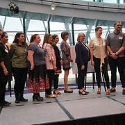 "City Hall, London, Uk, 29th June 2017. BBC Children's TV Presenters, Chris Jarvis preforms and question at the Health and education experts celeCity Hall, London, Uk, 29th June 2017. John Penny Primary,Marks Gate Junior School,Byron Court Primary,New End Primary,The Good Shepherd Primary School,George Eliot Primary School,Blessed Dominic  ""silver Awards"" of the City Hall awards at the Health and education experts celebrate London's healthiest schools.brate London's healthiest schools at City Hall awards."