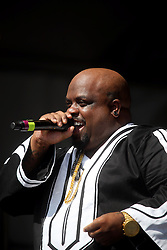 28 April 2012. New Orleans, Louisiana,  USA. .New Orleans Jazz and Heritage Festival. .Emmy award winner Cee lo Green heats up on stage..Photo; Charlie Varley.