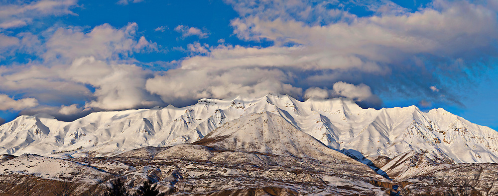 Clouds over Mt Timpanogos