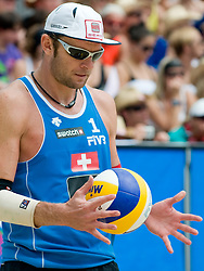 Martin Laciga M. of Switzerland at A1 Beach Volleyball Grand Slam tournament of Swatch FIVB World Tour 2010, on July 31, 2010 in Klagenfurt, Austria. (Photo by Matic Klansek Velej / Sportida)
