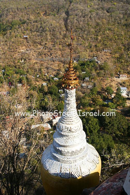 Myanmar, Mount Popa Monastery, Popa Taungkalat
