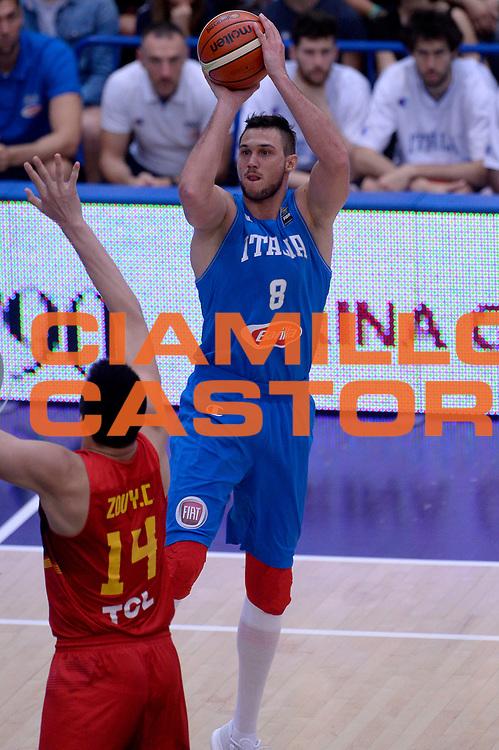 DESCRIZIONE : Trento Nazionale Italia Uomini Trentino Basket Cup Italia Cina Italy China<br /> GIOCATORE : Danilo Gallinari<br /> CATEGORIA : tiro<br /> SQUADRA : Italia Italy<br /> EVENTO : Trentino Basket Cup<br /> GARA : Trentino Basket Cup Italia Cina Italy China<br /> DATA : 18/06/2016<br /> SPORT : Pallacanestro<br /> AUTORE : Agenzia Ciamillo-Castoria/Max.Ceretti<br /> Galleria : FIP Nazionali 2016<br /> Fotonotizia : Trento Nazionale Italia Uomini Trentino Basket Cup Italia Cina Italy China