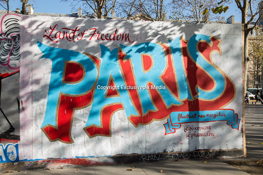 ATTACKS OF PARIS - STREET ART<br /> &copy;Exclusivepix Media
