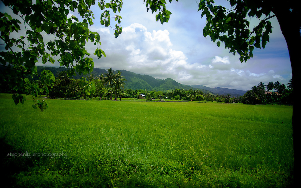The lush green plains of Aklan, with Duyang and Tagacan mountain ranges in the northern distance.