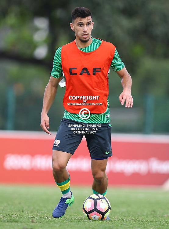 Lorenzo Gordinho of (Bafana Bafana) South Africa during the Bafana Bafana Training at People's Park, Moses Mabhida Stadium in Durban,21st March 2017 (Steve Haag)
