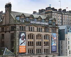 View of exterior of the City Art Centre in Edinburgh Old Town, Scotland, UK