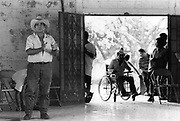 Members of the community participating in public discussions and debate around the future direction of the agricultural cooperative.<br /> Nueva Esperanza, El Salvador, 1999