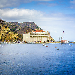 Catalina Island Casino Avalon Bay picture. The Catalina Casino is one of the most popular attractions on Catalina Island.