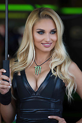 July 8, 2018 - Misano, RN, Italy - Umbrella girls during race 2 of the Motul FIM Superbike Championship, Riviera di Rimini Round, at Misano World Circuit ''Marco Simoncelli'', on July 08, 2018 in Misano, Italy  (Credit Image: © Danilo Di Giovanni/NurPhoto via ZUMA Press)