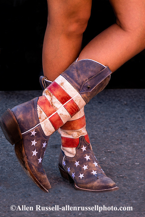 Cowgirl,red white and blue, cowboy boots