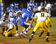 Water Valley's Cole Camp (4) runs vs. Charleston in Water Valley, Miss.  on Friday, September 16, 2011.