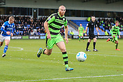Forest Green Rovers Charlie Clough(5) on the ball during the Vanarama National League match between Macclesfield Town and Forest Green Rovers at Moss Rose, Macclesfield, United Kingdom on 12 November 2016. Photo by Shane Healey.
