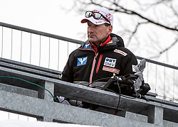 01.02.2019, Energie AG Skisprung Arena, Hinzenbach, AUT, FIS Weltcup Ski Sprung, Damen, Qualifikation, im Bild Damen Sprungtrainer Harald Rodlauer // Damen Sprungtrainer Harald Rodlauer during the woman's Qualification Jump of FIS Ski Jumping World Cup at the Energie AG Skisprung Arena in Hinzenbach, Austria on 2019/02/01. EXPA Pictures © 2019, PhotoCredit: EXPA/ Reinhard Eisenbauer