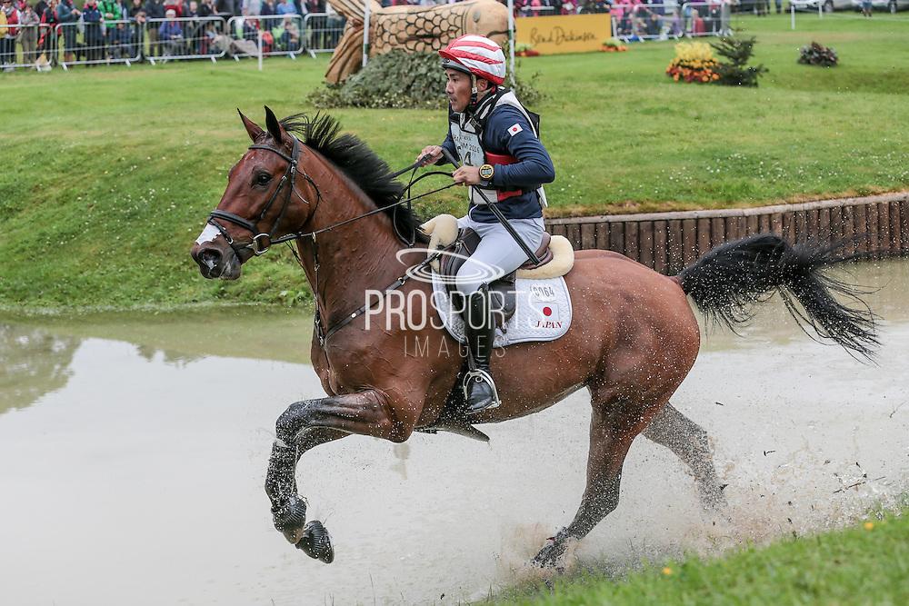 CALLE 44 ridden by Yoshiaki Oiwa at Bramham International Horse Trials 2016 at  at Bramham Park, Bramham, United Kingdom on 11 June 2016. Photo by Mark P Doherty.
