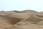 "The vast sand dunes of the Rub'al Khali (""Empty Quarter"")."