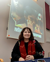 Campaigner Leslee Udwin before a screening of the acclaimed film maker and activist's film 'India's Daughter' at the launch of the Faculty of Advocates new anti bullying and discrimination policy in Edinburgh.<br /> <br /> © Dave Johnston/ EEm