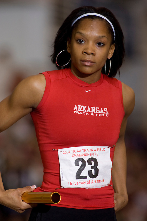 Arkansas Razorback Women's Track team at the NCAA Indoor.ChampionshipsUniversity of Arkansas Razorback Men and Women's Track and Field 2007 team....©Wesley Hitt.All Rights Reserved.501-258-0920.
