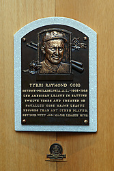 Tyrus Raymond Cobb plaque, National Baseball Hall of Fame and Museum, Cooperstown, New York, United States of America