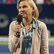 August 19, 2014, New Haven, CT:<br /> The Dave Solomon Media Award is presented to WTNH News Channel 8 on day five of the 2014 Connecticut Open at the Yale University Tennis Center in New Haven, Connecticut Tuesday, August 19, 2014.<br /> (Photo by Billie Weiss/Connecticut Open)