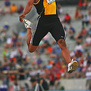 KITCHENS - 13USA, Des Moines, Ia. - George Kitchens won the long jump.   Photo by David Peterson