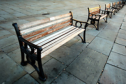 UK ENGLAND BATH 1OCT05 - Park benches located in the Abbey Church yard in front of the Bath Abbey in the city centre...jre/Photo by Jiri Rezac..© Jiri Rezac 2005.Contact: +44 (0) 7050 110 417.Mobile: +44 (0) 7801 337 683.Office: +44 (0) 20 8968 9635..Email: jiri@jirirezac.com.Web: www.jirirezac.com..© All images Jiri Rezac 2005 - All rights reserved.
