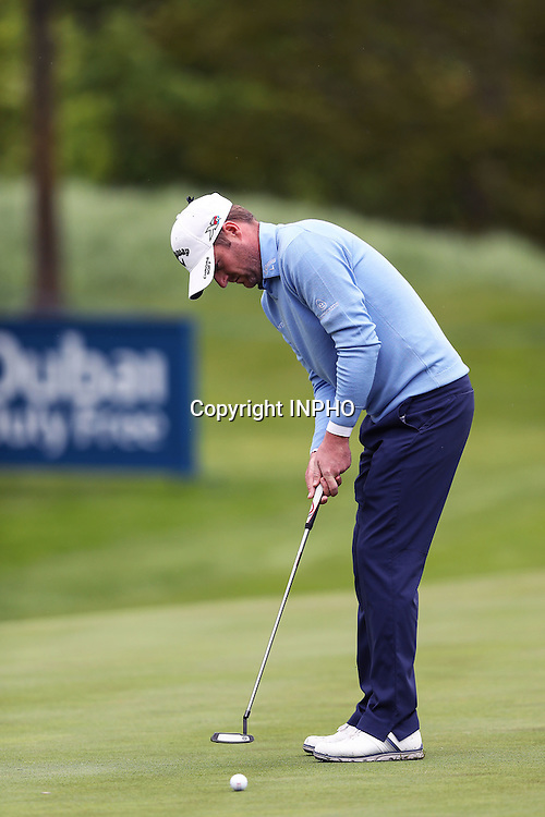 2016 Dubai Duty Free Irish Open Day 2, The K Club, Co. Kildare 20/5/2016<br /> Marc Warren on the 5th green<br /> Mandatory Credit &copy;INPHO/Ryan Byrne
