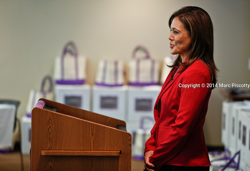 SHOT 12/12/14 11:18:16 AM - The March of Dimes, in partnership with The Medical Center of Aurora, held the first Denver &ldquo;Mission: Healthy Baby Baby Shower&rdquo; event at the hospital on Friday December 12. The event was hosted by FOX31 News Anchor Deborah Takahara and is a program designed specifically for military families that provides free pregnancy and newborn health information and support services in an effort to encourage healthy, full-term babies.&nbsp;The event also features a free breakfast, informational presentations and plenty of giveaways to expectant moms.<br /> (Photo by Marc Piscotty / &copy; 2014)