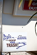 Keep Laguna Beach Beautiful Campaign On The Lifeguard Tower