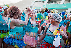 Carnival Kaleidescope Jouvert troupe.  Carnival 2015 continues Jouvert morning on the Watefront.  St. Thomas, VI.  30 April 2015.  © Aisha-Zakiya Boyd