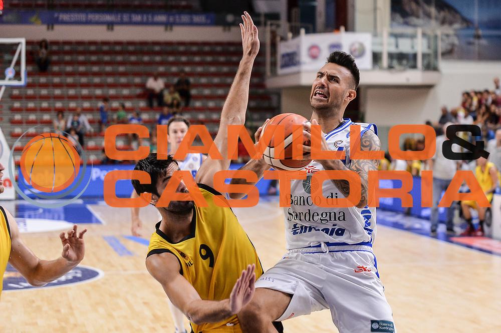 DESCRIZIONE : Torneo Citt&agrave; di Sassari &quot;Mim&igrave; Anselmi&quot; Dinamo Banco di Sardegna Sassari - AEK Atene<br /> GIOCATORE : Brian Sacchetti<br /> CATEGORIA : Tiro Penetrazione<br /> SQUADRA : Dinamo Banco di Sardegna Sassari<br /> EVENTO :  Torneo Citt&agrave; di Sassari &quot;Mim&igrave; Anselmi&quot; <br /> GARA : Dinamo Banco di Sardegna Sassari - AEK Atene Torneo Citt&agrave; di Sassari &quot;Mim&igrave; Anselmi&quot;<br /> DATA : 12/09/2015<br /> SPORT : Pallacanestro <br /> AUTORE : Agenzia Ciamillo-Castoria/L.Canu