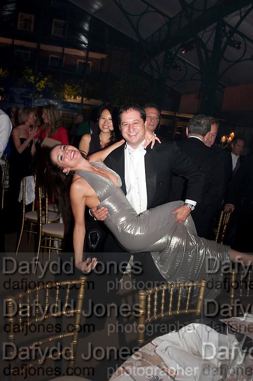 TIM GOODALE; NATALYA SAVELYEVA DANCING, Evgeny Lebedev and Graydon Carter hosted the Raisa Gorbachev charity Foundation Gala, Stud House, Hampton Court, London. 22 September 2011. <br /> <br />  , -DO NOT ARCHIVE-© Copyright Photograph by Dafydd Jones. 248 Clapham Rd. London SW9 0PZ. Tel 0207 820 0771. www.dafjones.com.