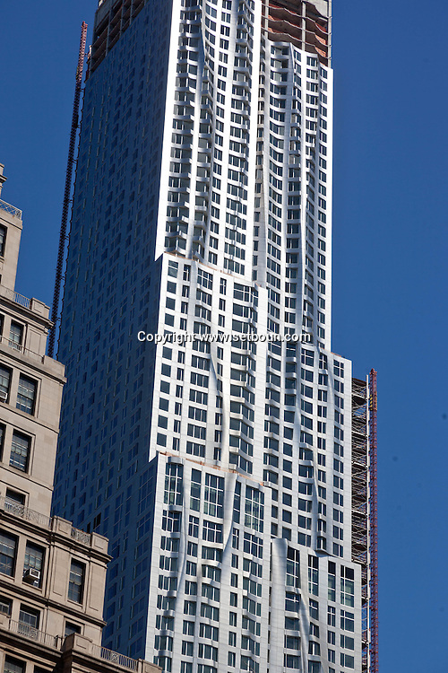 United states, New york  new Gehry building under construction in lower manhattan  area. Pace university