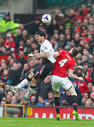16.03.2014, Old Trafford, Manchester, ENG, Premier League, Manchester United vs FC Liverpool, 30. Runde, im Bild Liverpool's Luis Suarez, action against Manchester United // during the English Premier League 30th round match between Manchester United and Liverpool FC at Old Trafford in Manchester, Great Britain on 2014/03/16. EXPA Pictures &copy; 2014, PhotoCredit: EXPA/ Propagandaphoto/ David Rawcliffe<br /> <br /> *****ATTENTION - OUT of ENG, GBR*****