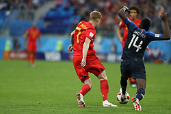 July 10, 2018 - SãO Petersburgo, Rússia - SÃO PETERSBURGO, MO - 10.07.2018: FRANÇA X BÉLGICA - Kevin De Bruyne and Blaise Matuidi during the match between France and Belgium valid for the semifinal of the 2018 World Cup, held at the Krestovsky Stadium in St Petersburg, Russia. (Credit Image: © Ricardo Moreira/Fotoarena via ZUMA Press)
