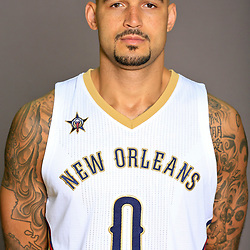 Sep 23, 2016; New Orleans, LA, USA; New Orleans Pelicans center Robert Sacre (0) poses for a portrait during media day at the Smoothie King Center. Mandatory Credit: Derick E. Hingle-USA TODAY Sports
