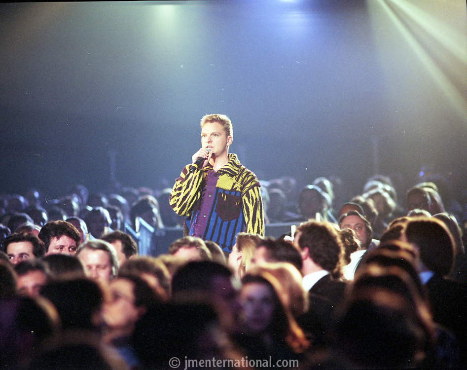 Andy Bell, The BRIT Awards 1993 <br /> Tuesday 16 Feb 1993.<br /> Alexandra Palace, London, England<br /> Photo: John Marshall - JM Enternational