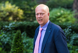 London, June 20th 2017. Transport Secretary Chris Grayling attends the weekly cabinet meeting at 10 Downing Street in London.