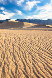 """Ibex Dunes 4"" - Photograph of ripples in the sand at Ibex Sand Dunes in Death Valley, California."