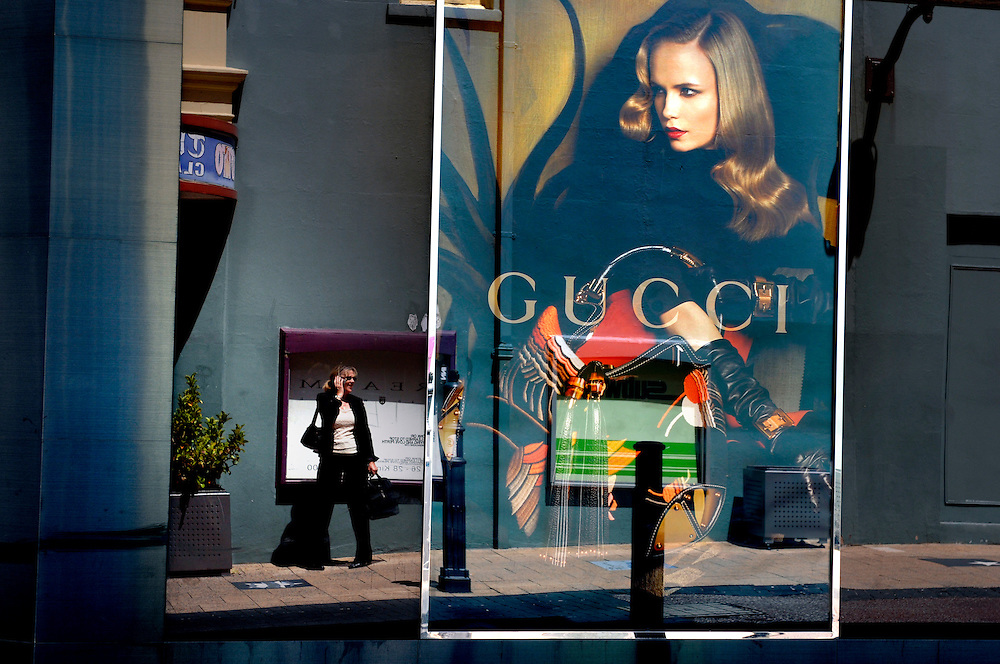 GUCCI store front, King Street, Perth, Western Australia 31 October 2007