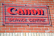 Canon service centre sign
