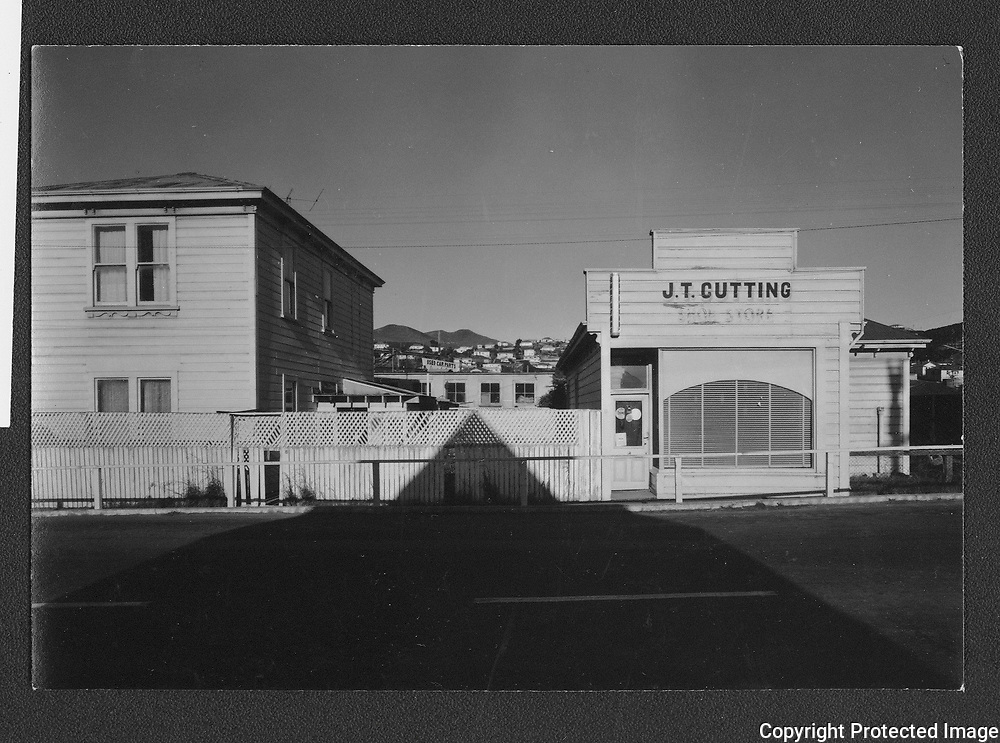 This was one of the first photographs I took of Johnsonville's main street during the Christmas-New Year 1966-67 holiday period, when most of the shops were closed and there were few people about to see me learning how to use a 5x4 inch format camera.