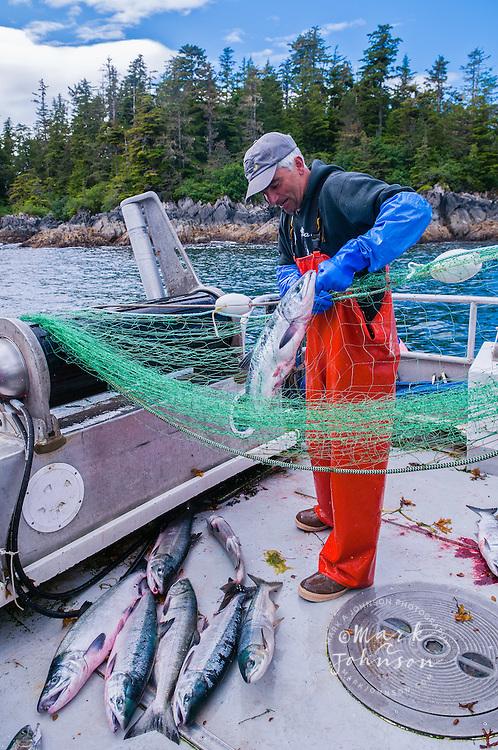 Sitka, Alaska, USA --- Salmon gillnet fisherman