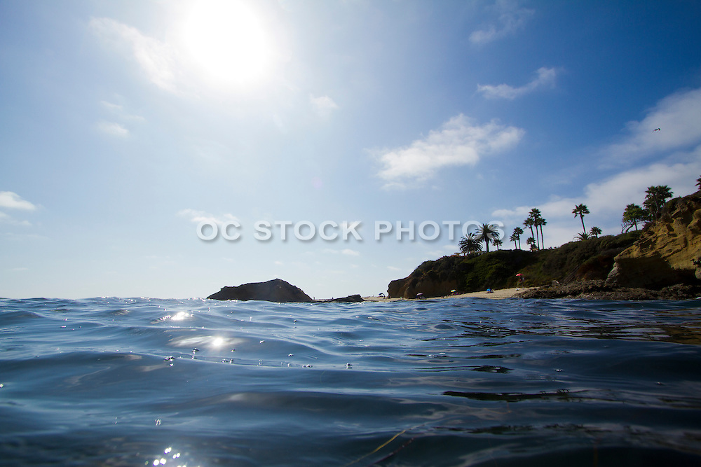 In the Ocean at Treasure Island in Laguna Beach California