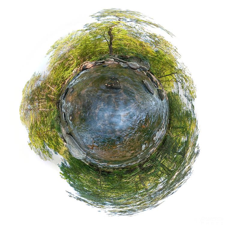"""Little Planet"" Photo of the Ken Lockwood Gorge."