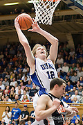 3 November 2009: Dukes #12 Kyle Singler Dunks the ball..The Duke Blue Devils defeat the Findlay Oilers 84 -48 in an exhibition game. Kyle Singler had 20 points as Duke wraps up it's pre-season.. Mandatory Credit:Mark Abbott / Southcreek Global