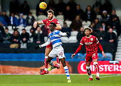 Nathan Baker of Bristol City is challenged by Idrissa Sylla of Queens Park Rangers - Rogan/JMP - 23/12/2017 - Loftus Road - London, England - Queens Park Rangers v Bristol City - Sky Bet Championship.