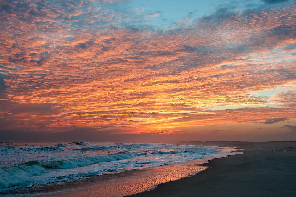 Atlantic Surf Sunset<br /> Westhampton Beach, Long Island